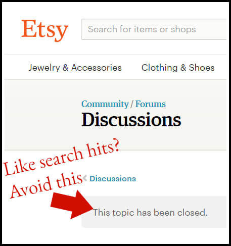 Etsy is admitting that your forum behaviour can affect your search rankings. What else aren't they admitting to?