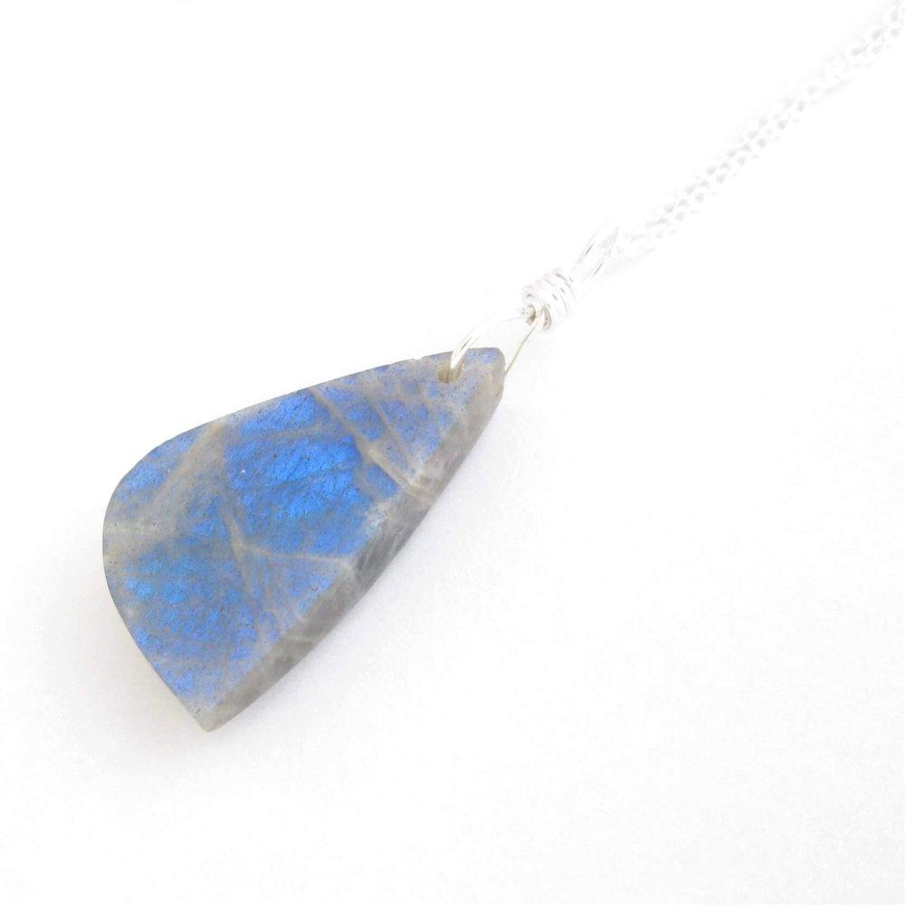 Small Blue Labradorite Necklace