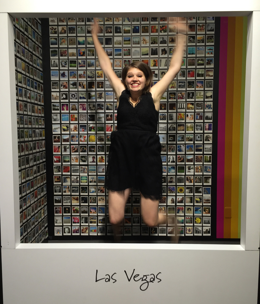 Laura putting the polaroid booth to good use.