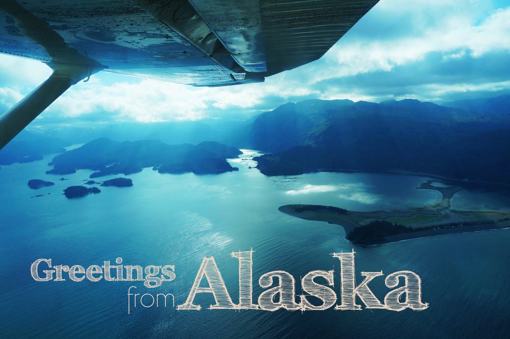 Photo taken by me, over Seldovia. Printed as a postcard. Other nature photos also used as post cards.