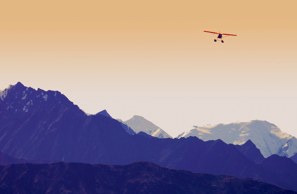 Stylized bush plane print. Printed as a card and poster.