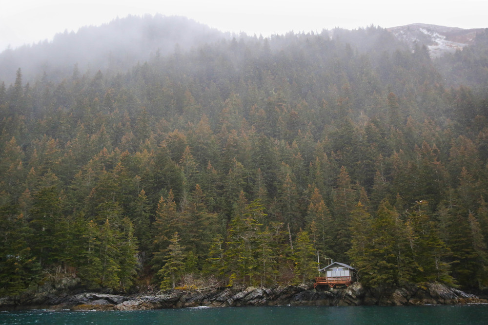 This hard-to-reach cabin in one of the Resurrection Bay coves is my new dream house!