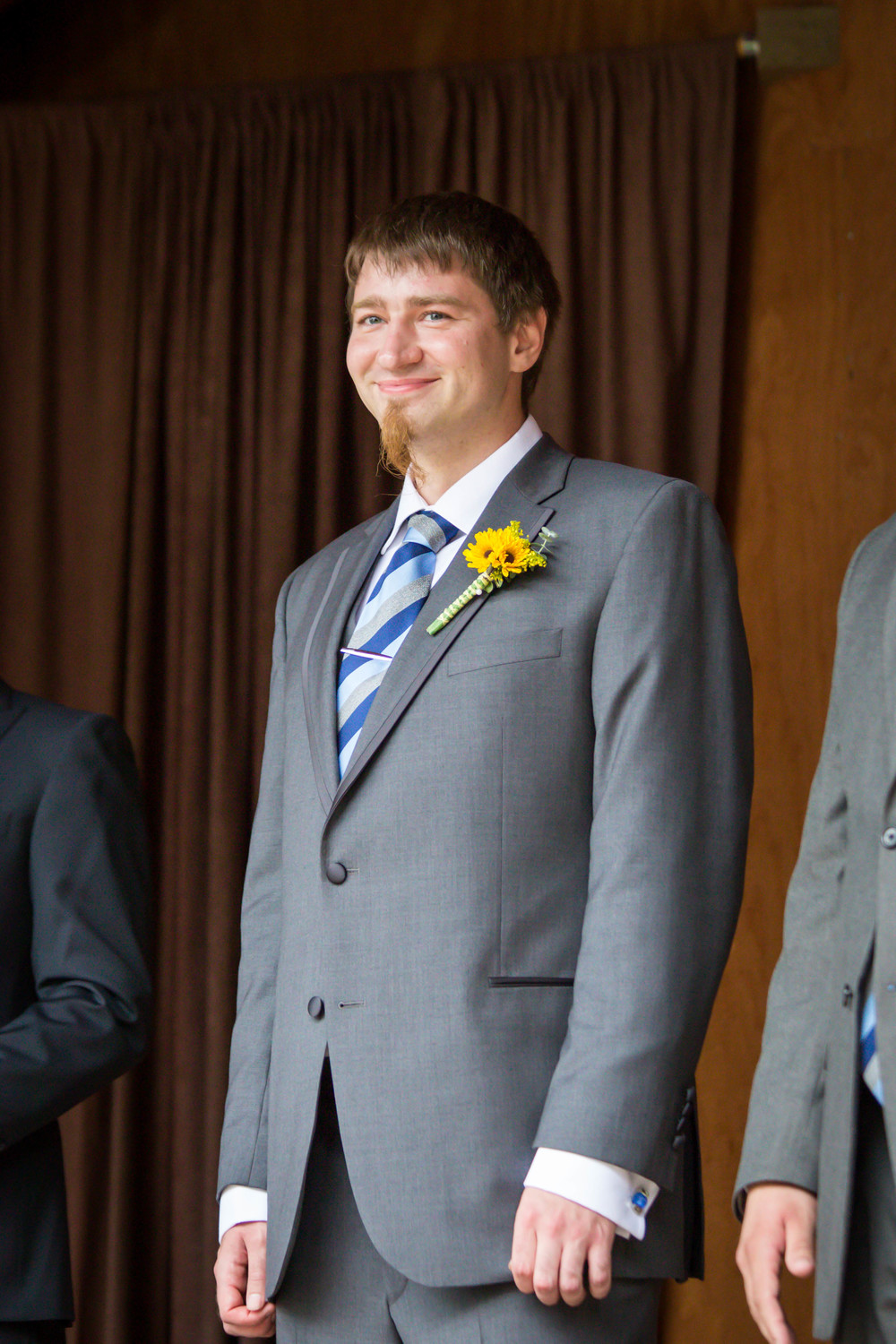 Jon seeing Amanda for the first time that day, as she walked down the aisle.