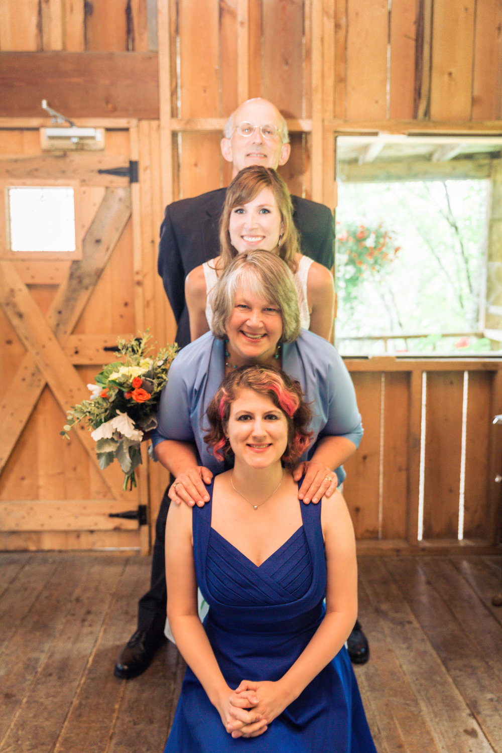"I was told this was a tradition for the Middendorf family, adorably called a ""Totem-dorf."""
