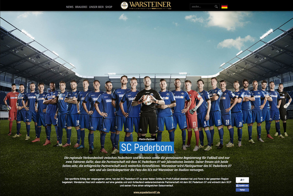 Warsteiner Pilsner feat. the German soccer club SC Paderborn. Check the new session team photos.  View full Story →