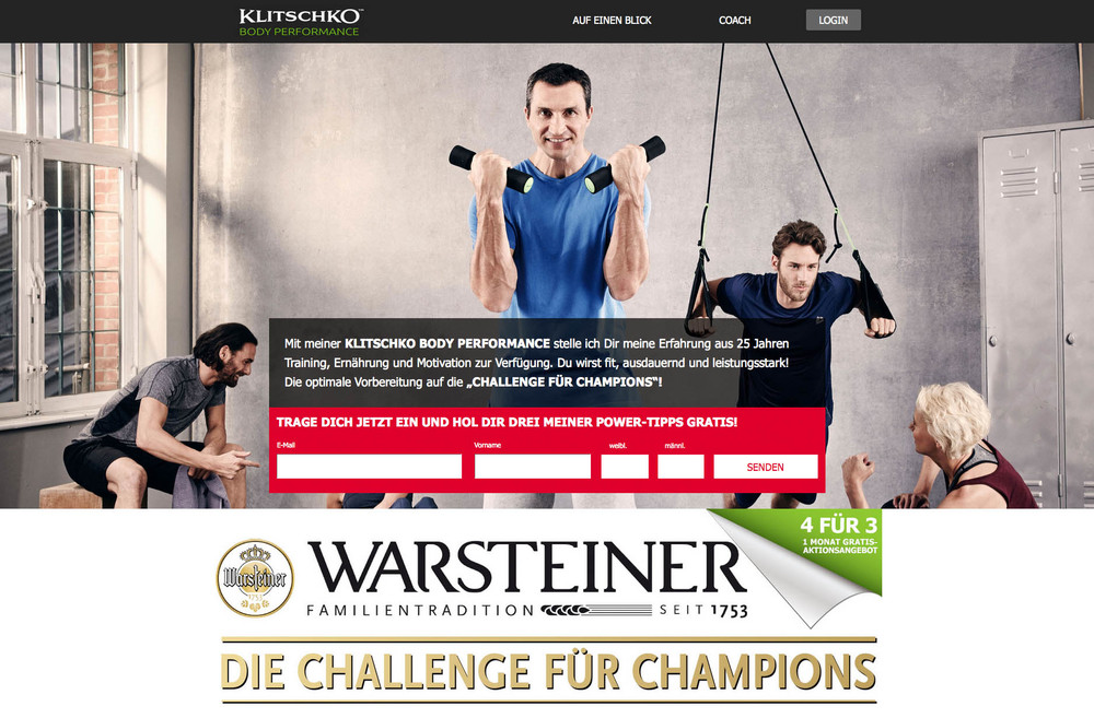 In cooperation with the Warsteiner Brewery and the Klitschko Body Perfomance I photographed the current campaign for thehealth fitness action. View full Story →