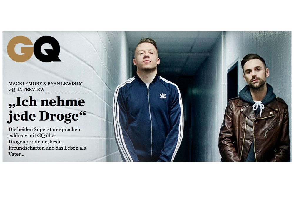 Macklemore & Ryan Lewis // GQ Magazine