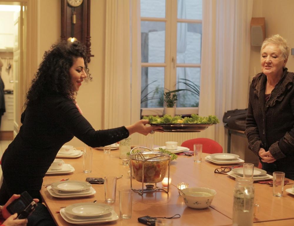 Nadjilah Borani, Gast vrouw bij de kookworkshop