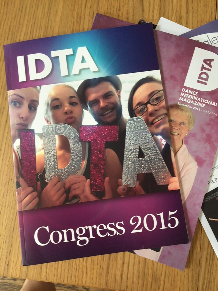 Some of the teaching team were lucky enough to be on the cover of Dance International's Congress Magazine