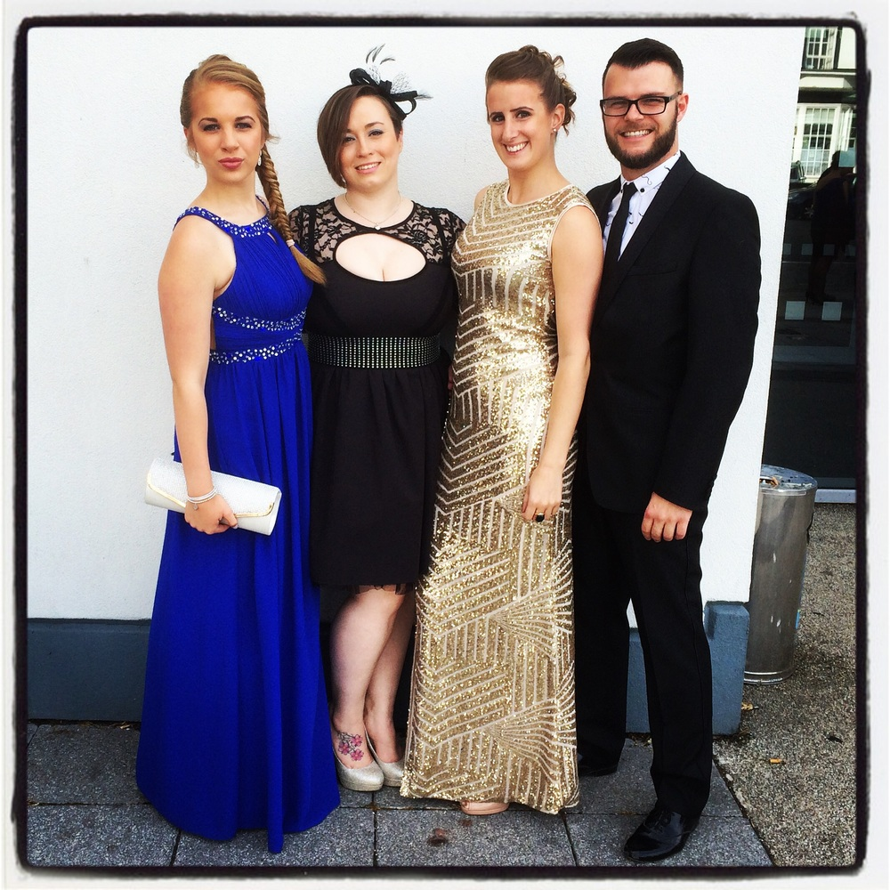 All dressed up for the IDTA Dinner Dance Southport 2015 Left to right; Alex, Karlyne, Louise and James