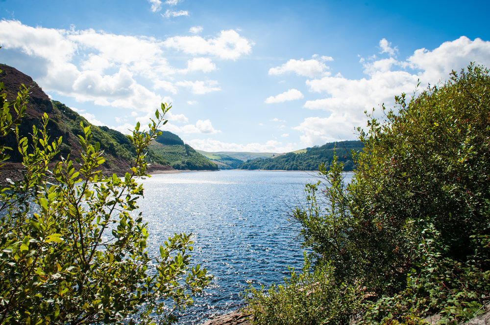 Caban-Coch reservoir (lowermost)