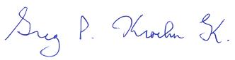 Greg Kroeker's signature