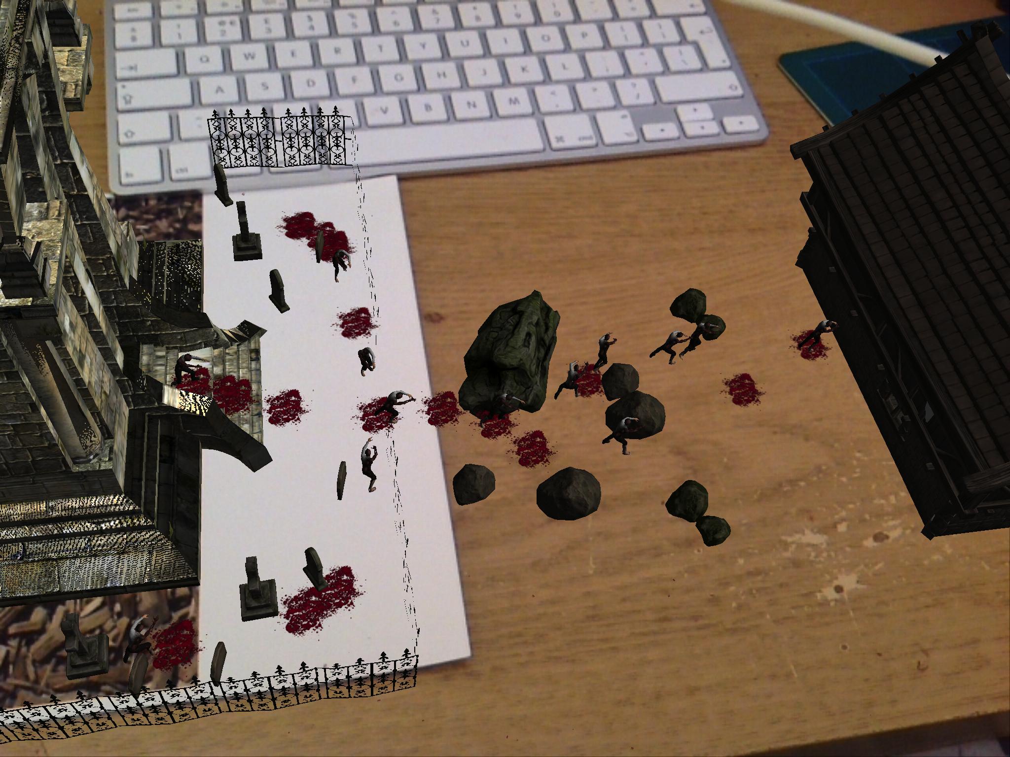 Desktop zombie AR.
