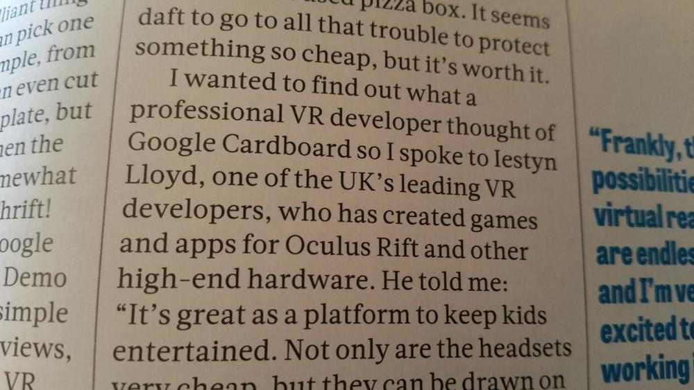 One of the UK's leading VR developers, apparently.