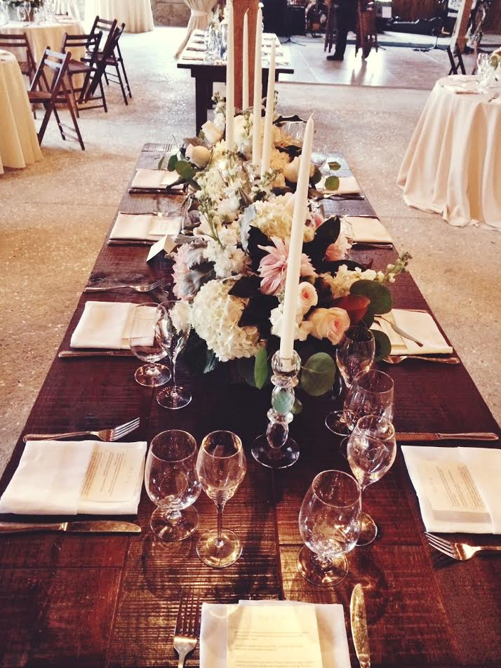 Our beautiful table, the flowers took my breath away.