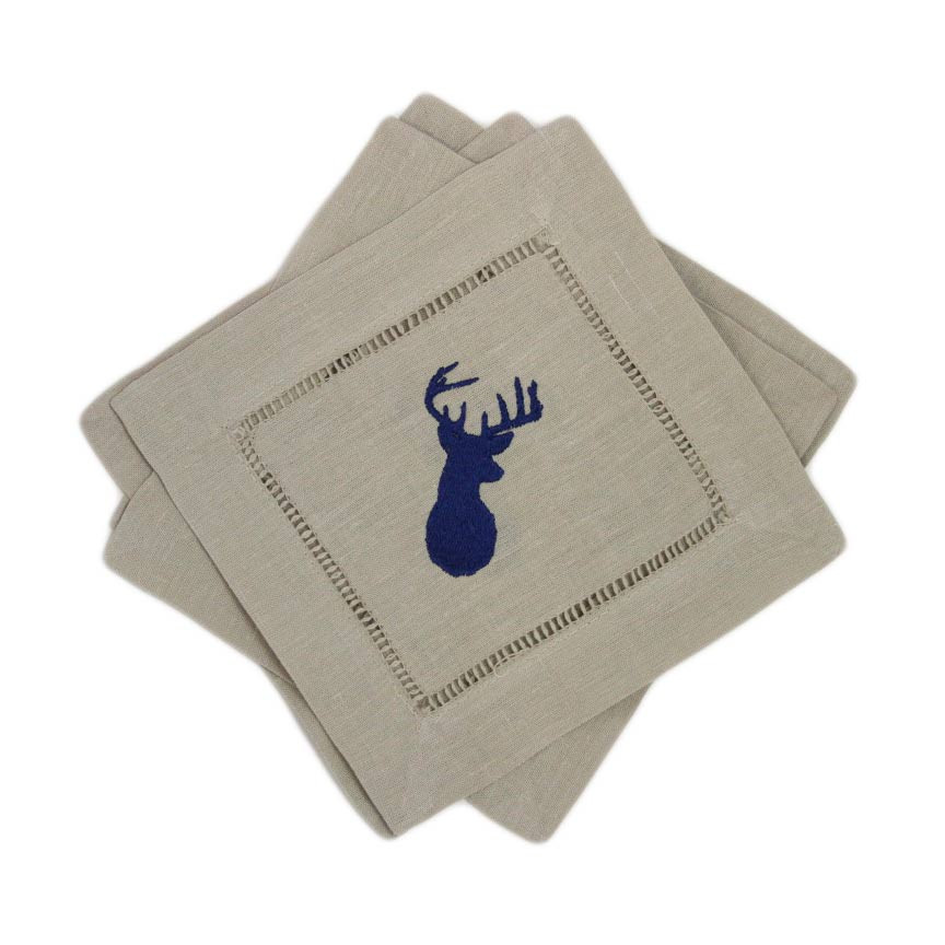 I have been obsessing over these cocktail napkins for a few weeks, I love them in navy but they're super cute in taupe as well.
