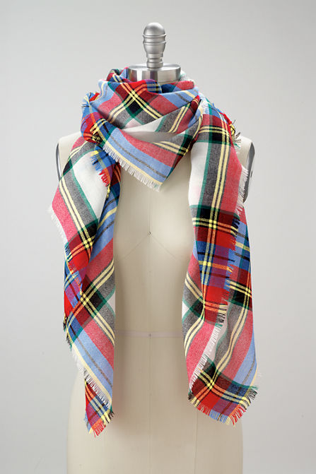 I love the colors in this plaid, the white and light blue are so pretty!