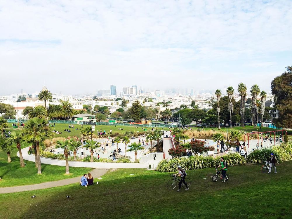The one decent picture I have from San Francisco, it's Dolores Park in the Mission District.