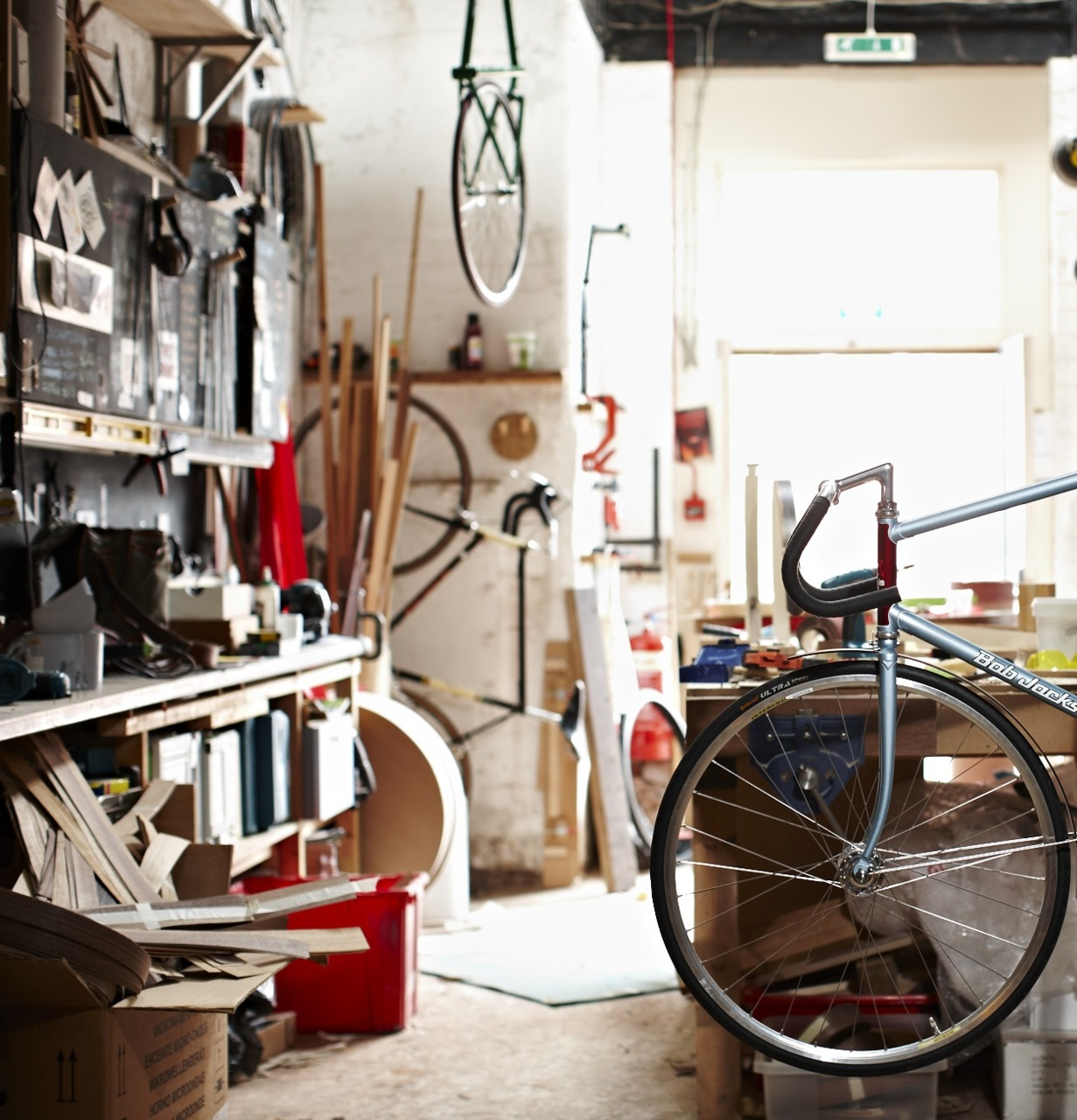 Squaretree workshop in Edinburgh. (Wooden mudguards, Wooden fenders, Wood fenders, Wood mudguards)