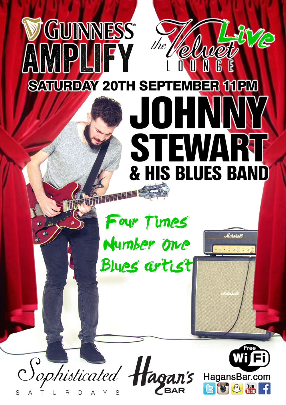 Johnny Stewart & His Band LIVE Saturday 20th September