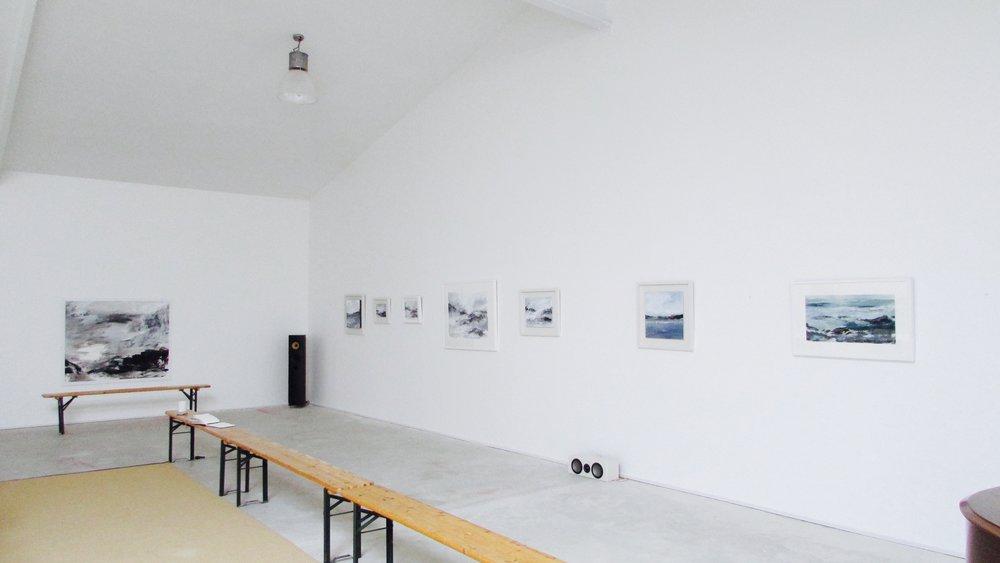 Maria Floyd paintings, in situ at Hay Studio for SITUATION
