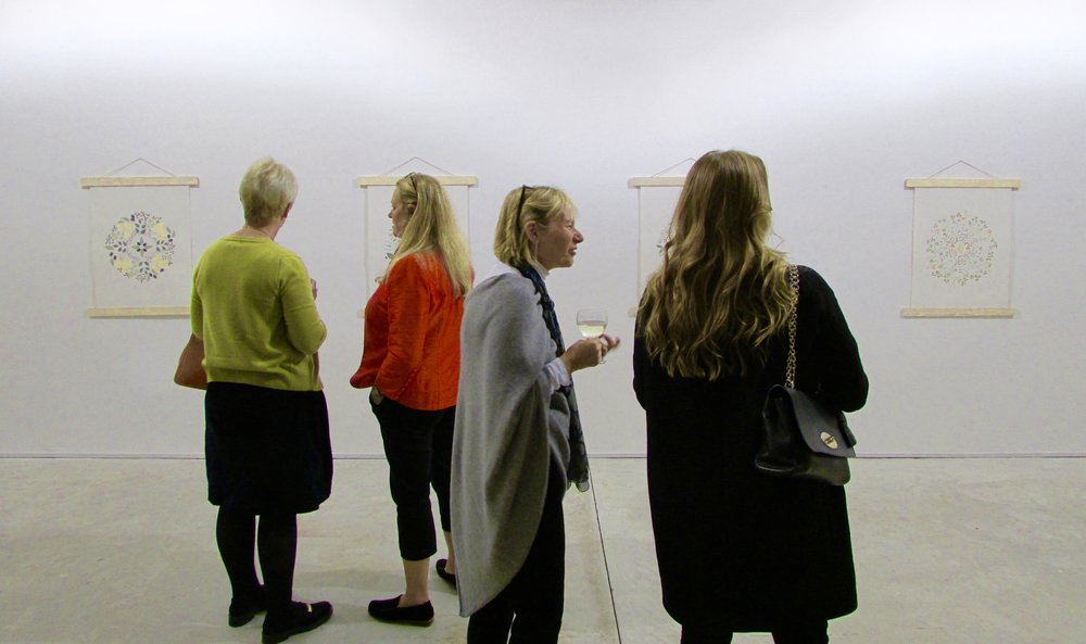 Lucy Morley's opening night at Hay Studio
