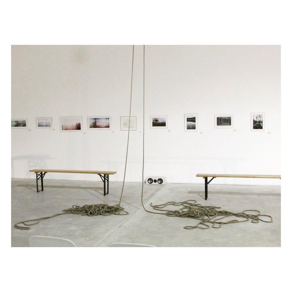 Hay Studio - set up for Emma Hambly's Exhibition and Haranczak/Navarre Performance