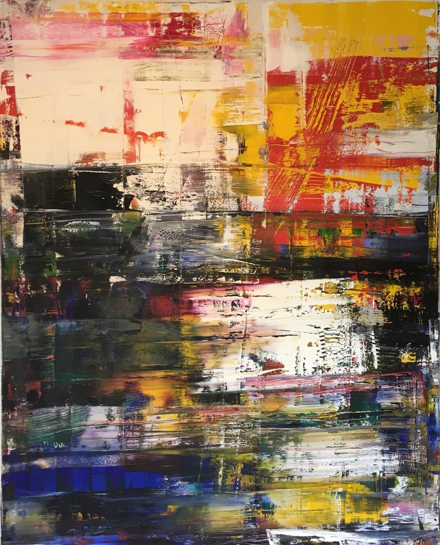 Jonathan S Hooper  2015, Mouls Island no 2 120cm x 150cm oil on canvas