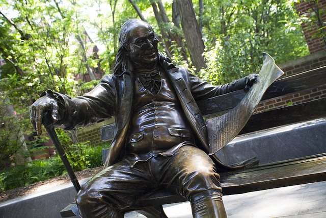 Benjamin Franklin- Campus of the University of Pennsylvania