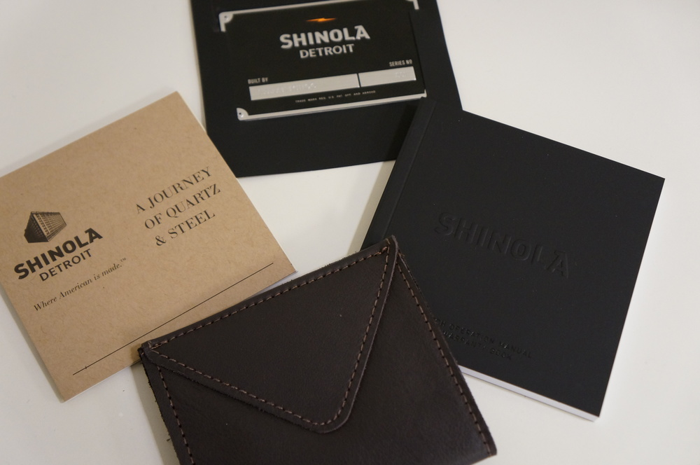 Shinola Watch Box Contents