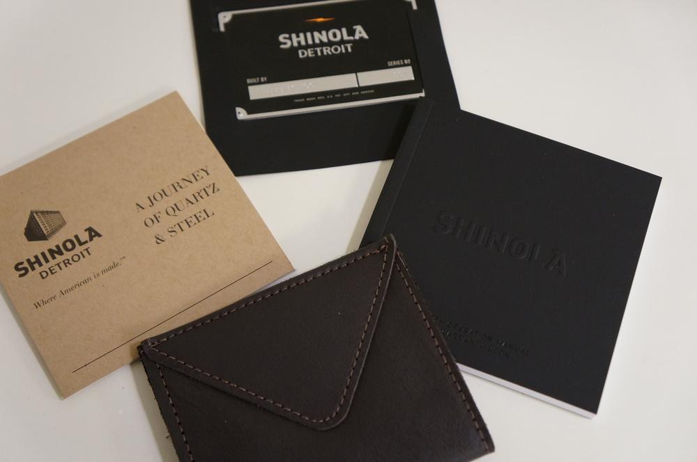Shinola Watch Box Contents