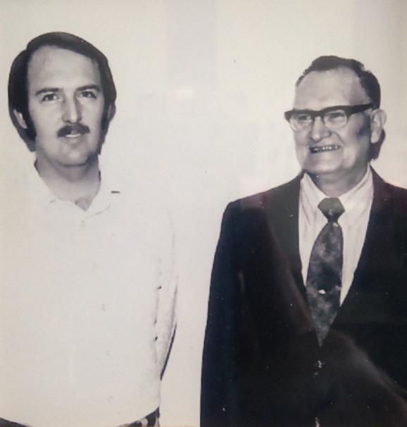 Calvin Adams (left) andWilford Adams (right)