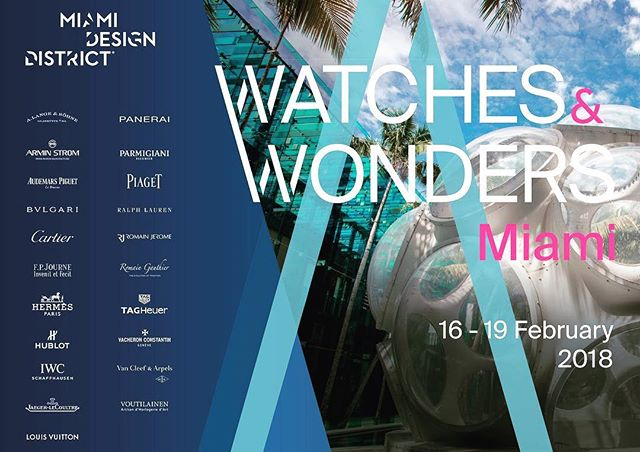 IWC, AP, Panerai and others coming together for four days in Miami this February. Does it get any better? See you there 🛩