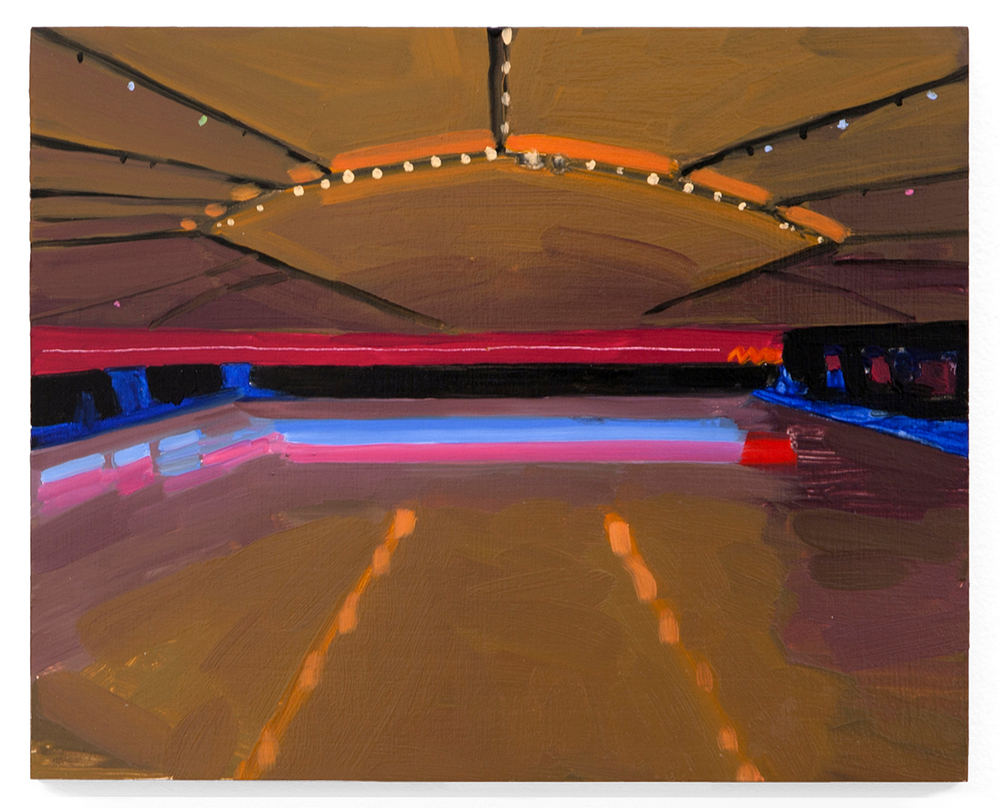 Untitled (Roller Rink),  2013 Oil on panel 8 x 10 inches
