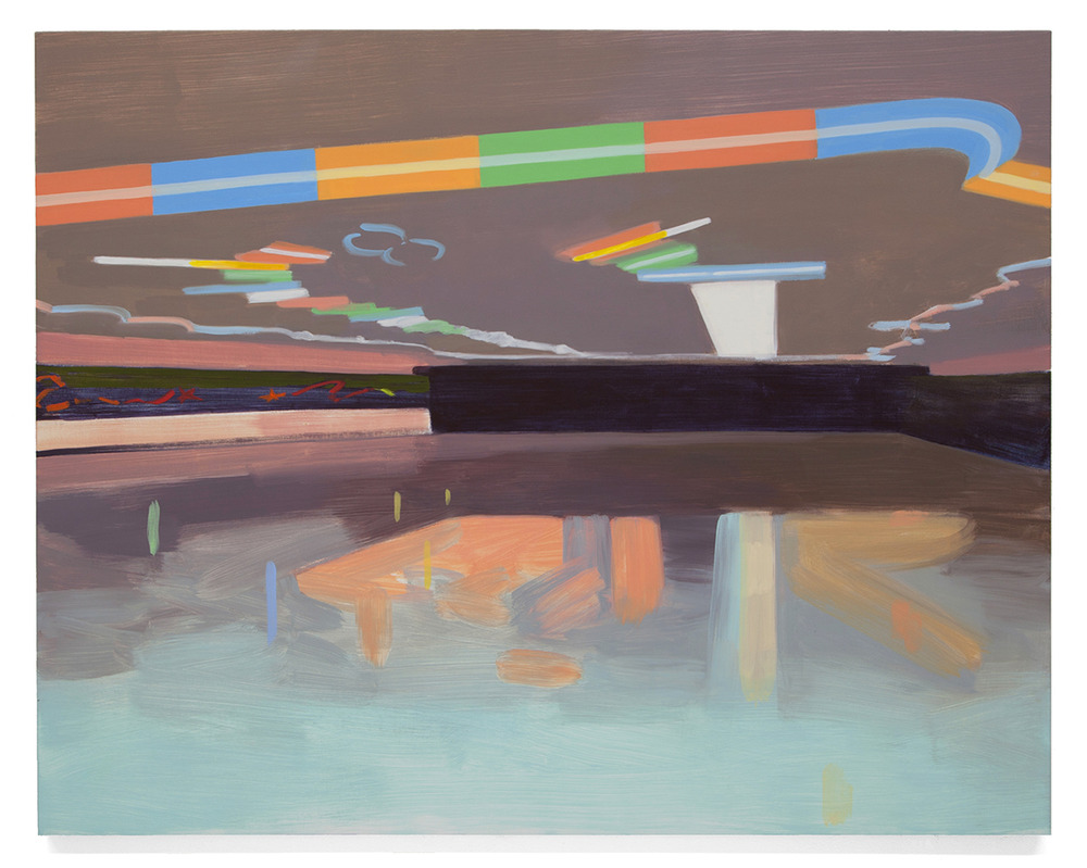 Untitled (Roller Rink),  2013 Oil on canvas over panel 38 x 48 inches