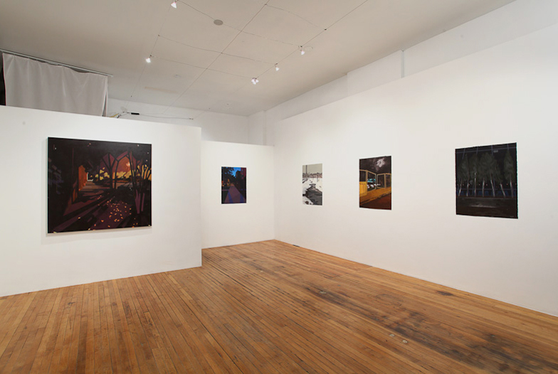 ALIZA MORELL: WALKING AT NIGHT  ACRE Projects, Chicago, IL November 2 – 8, 2010  Installation view – Aliza Morell