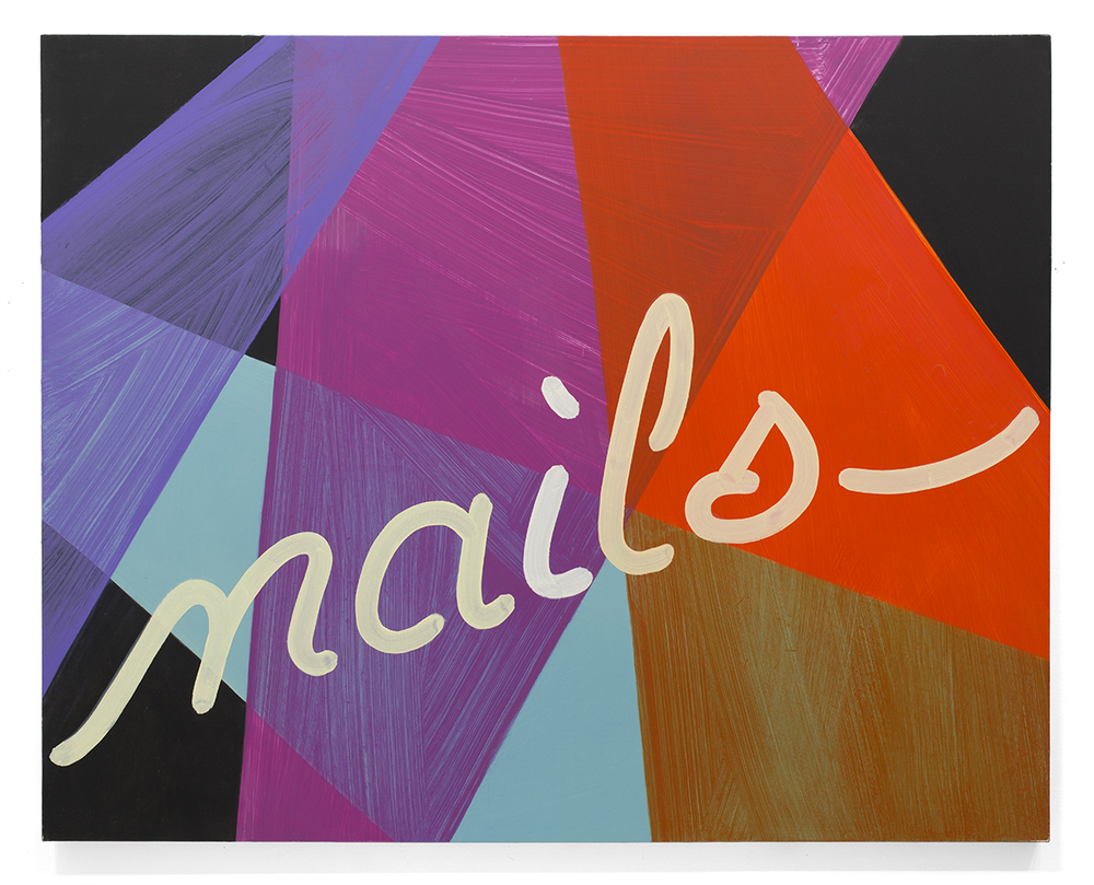 Nails , 2015 Oil on canvas 40 x 50 in