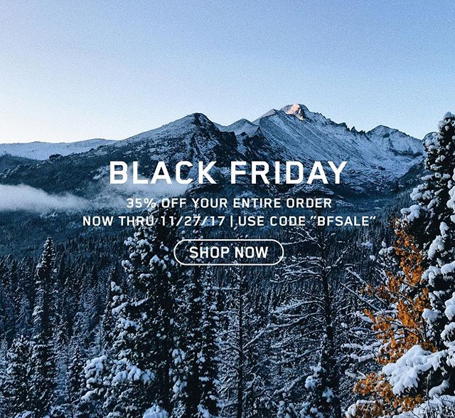 """Our Black Friday - Cyber Monday sale is live! Get 35% off your entire order now through Cyber Monday with code """"BFSALE""""."""