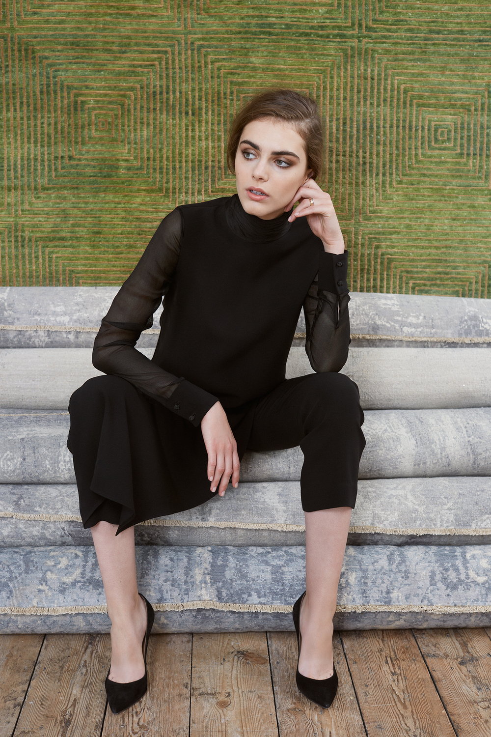Stahl polo neck top, Gehry trousers