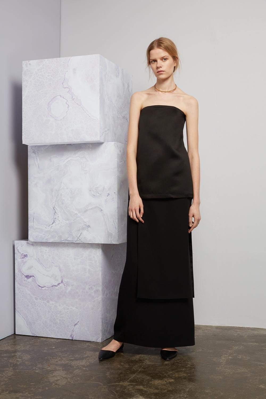 Brancusi top, Seagram skirt