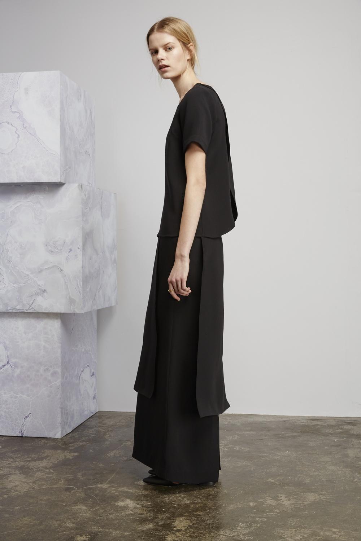 Dentsu top, Seagram skirt