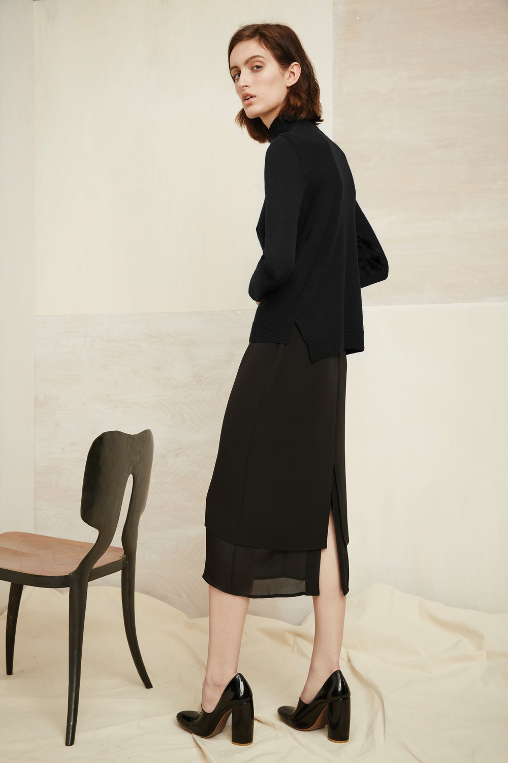 Ryder turtleneck, Massaro skirt
