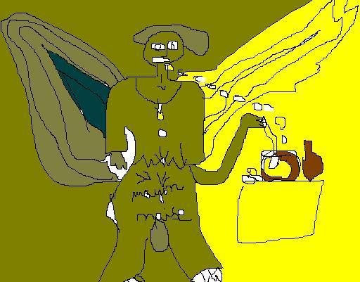 Ange gavé de mayonnaise