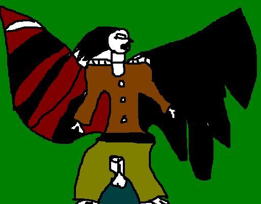 Ange oiseau à l'aile gauche cassée