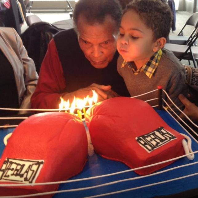 Muhammad Ali enjoys his birthday cakes from Adrienne and Co.