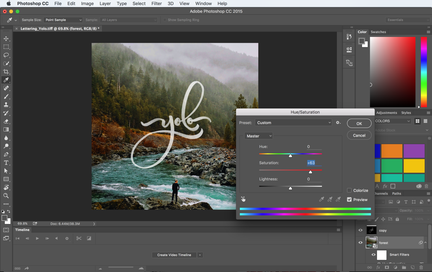 How to put your Lettering over a Photo with Photoshop