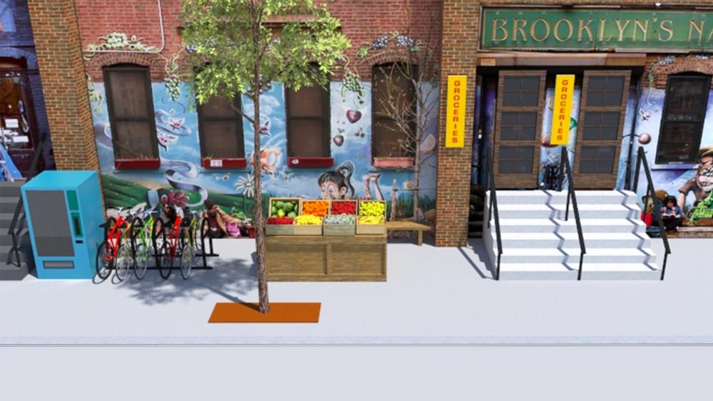 Street Scene Pre-production 3D Render
