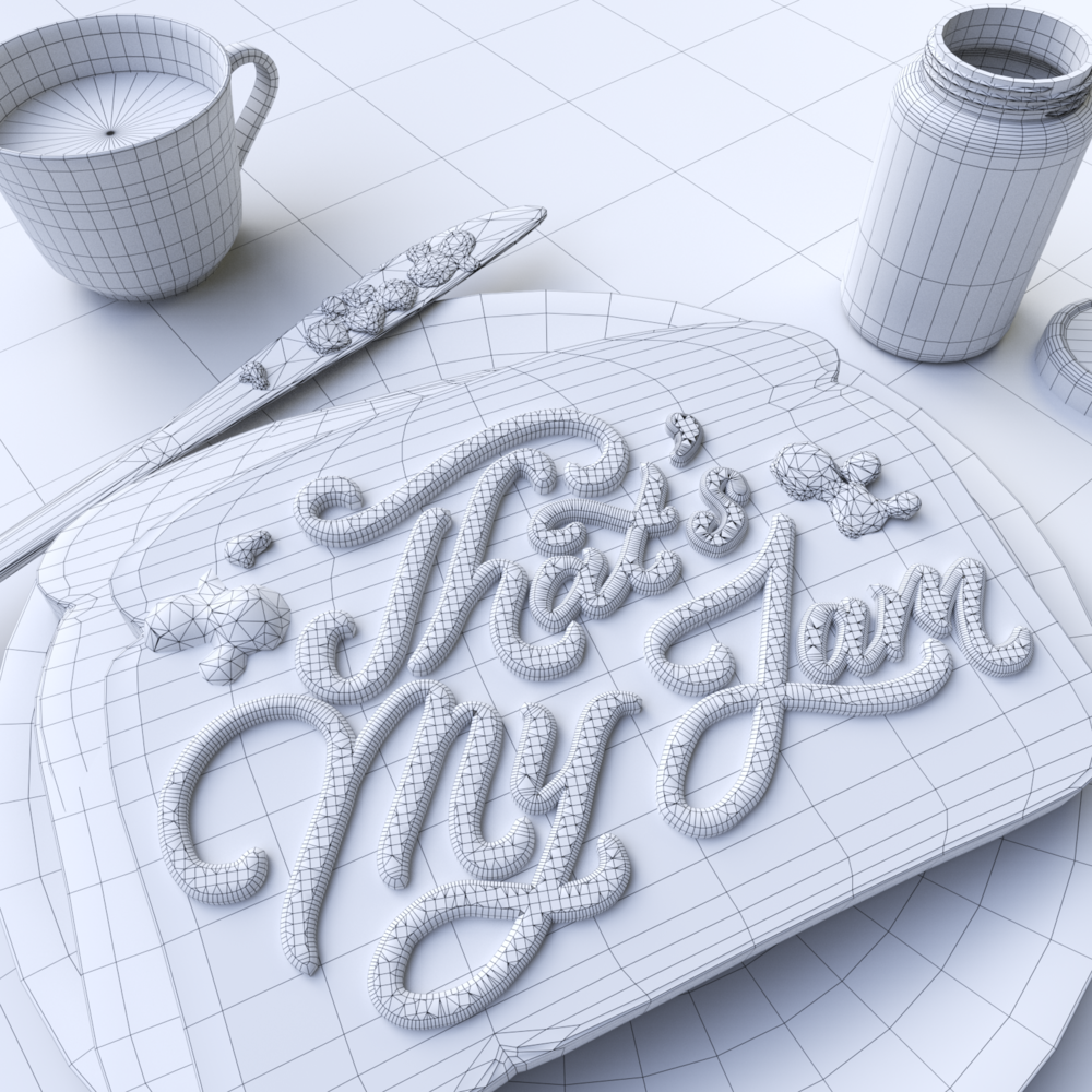 Wireframe Clay Scene