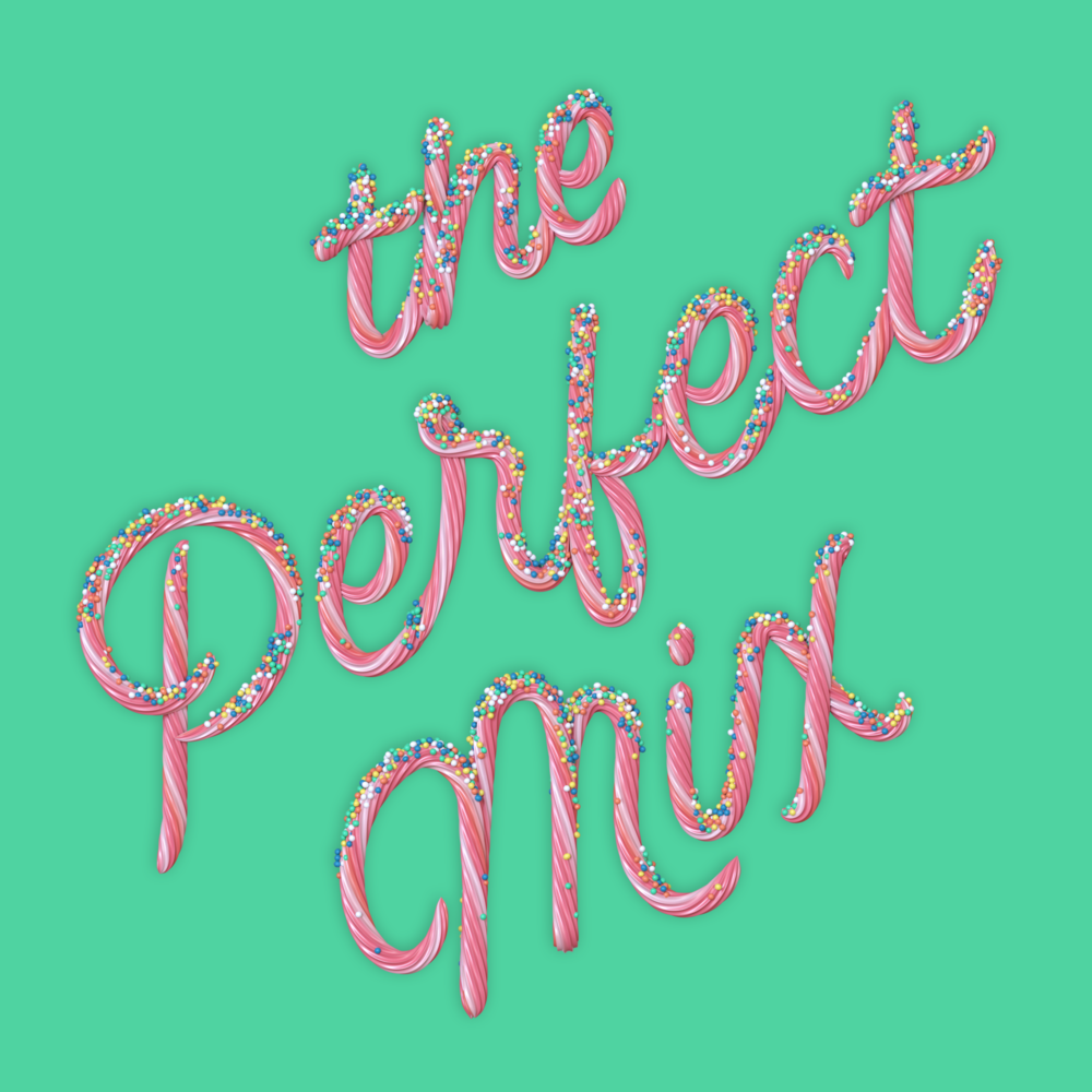 """The Perfect Mix"" 3D type lettering made of cake icing by Noah Camp"