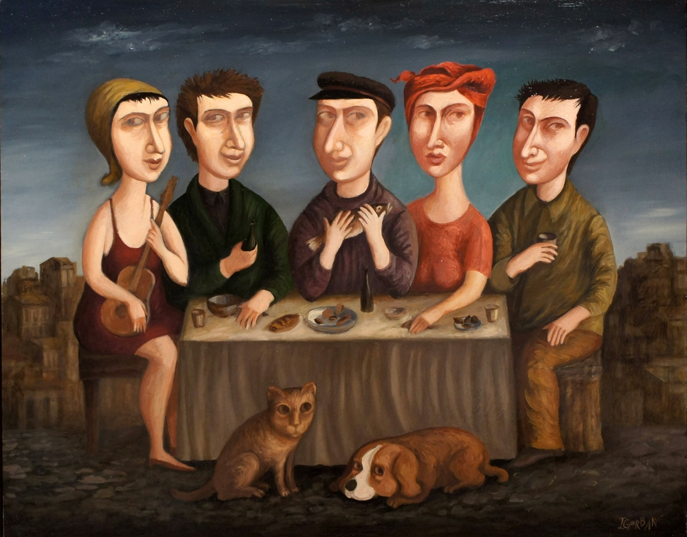 """The Banquet, 24""""x30"""", oil on canvas"""